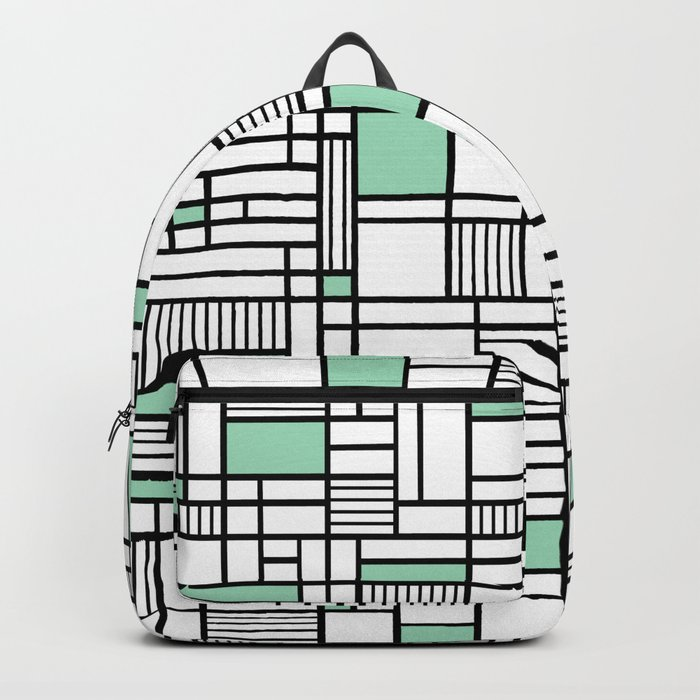 Map Lines Mint Backpack