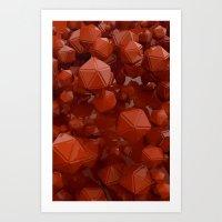 Red Platonics Art Print