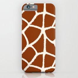 Love My Giraffe! Faux Animal Print Pattern iPhone Case
