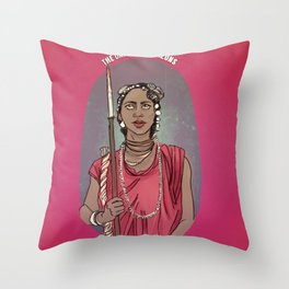 The Dahomey Amazons Throw Pillow