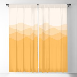 Yellow mountains Blackout Curtain