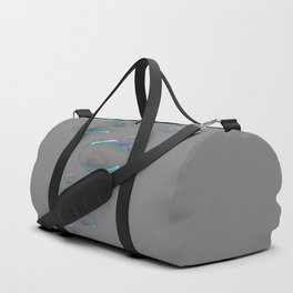 IRIDESCENT SOAP BUBBLES GREY COLOR DESIGN Duffle Bag