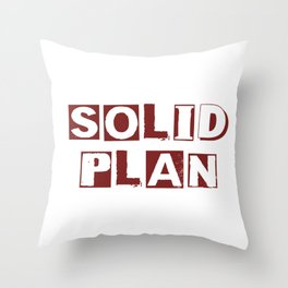 Solid Plan Throw Pillow