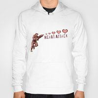 master chief Hoodies featuring Heart Attack - Master Chief - Halo by Canis Picta