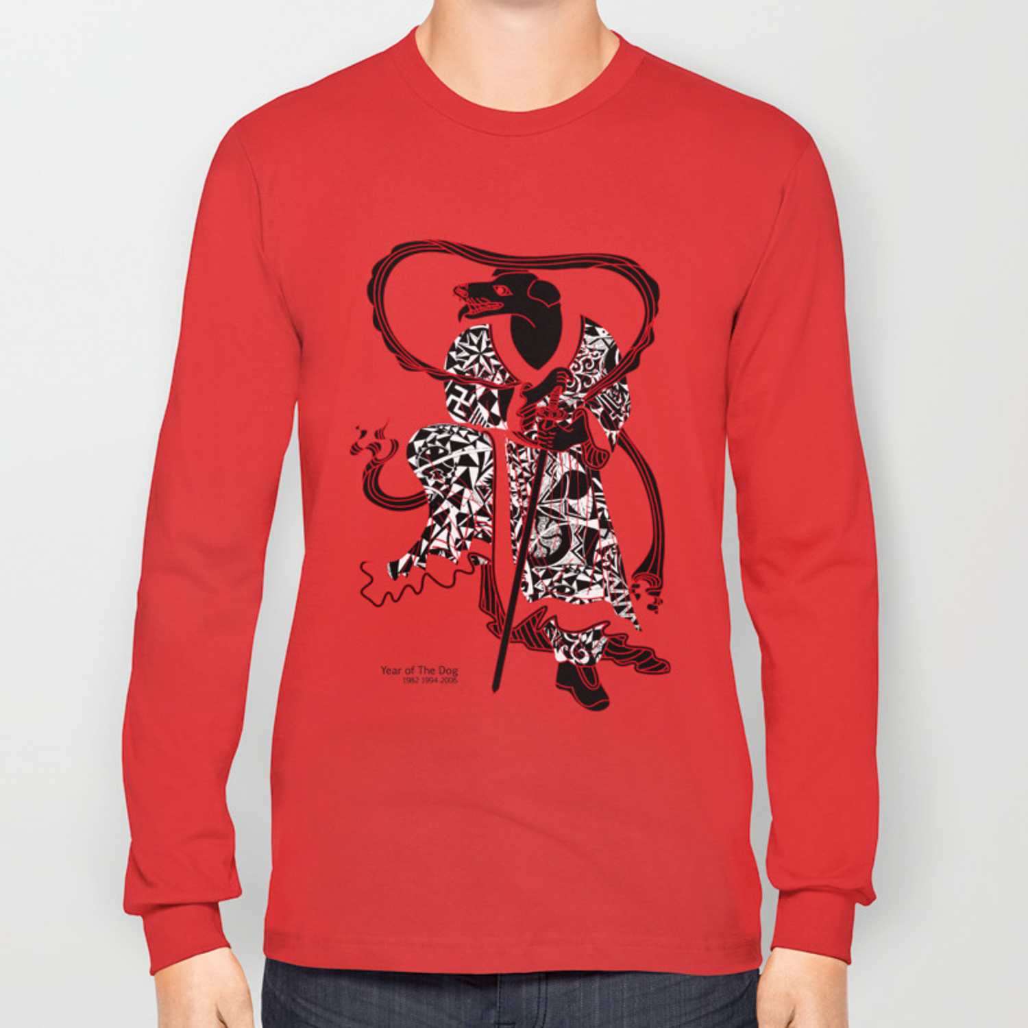 Chinese zodiac sign, Year of the Dog Long Sleeve T-shirt by tgrimm