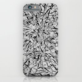 Black and Gray Modern Floral Print iPhone Case