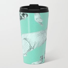 Mink in Bleu (c) 2017 Metal Travel Mug