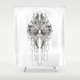 Black & White Lace Shower Curtain