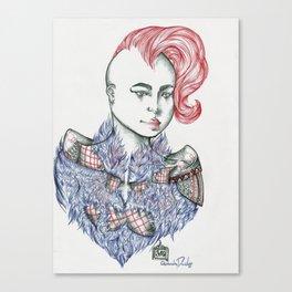Raining Feathers  Canvas Print