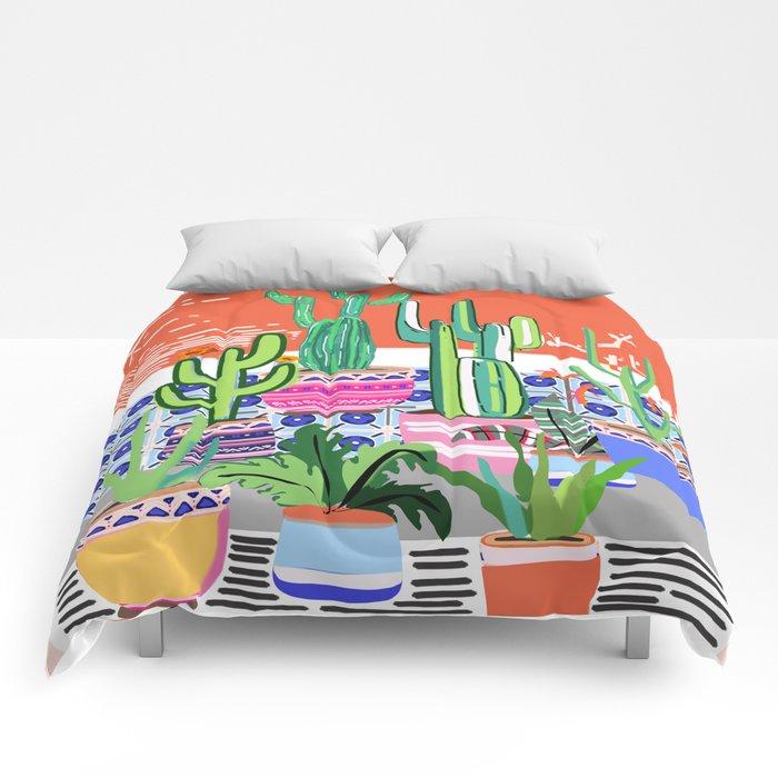 Cactus Window Comforters
