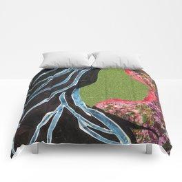 Black Hair Lady Comforters