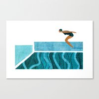 pool Canvas Prints featuring Pool by Andrew Lyons
