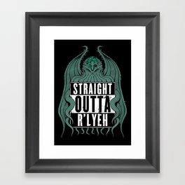 Straight Outta R'lyeh Framed Art Print