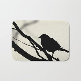 Silhouetted Bird Bath Mat