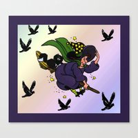 witch Canvas Prints featuring Witch by Art-Motiva