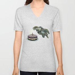Turtle Birthday Unisex V-Neck