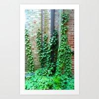 climbing Art Prints featuring Climbing by Ellan Kosatka