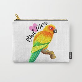 Parrot Bird Mom - Sun Conure Watercolor Carry-All Pouch
