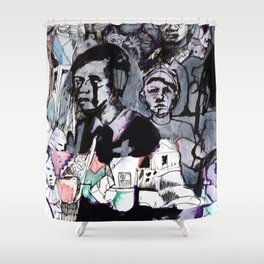 The Purple Mercury People Shower Curtain