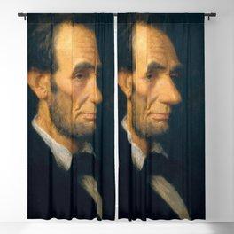 """Douglas Volk """"Portrait of Abraham Lincoln"""" Blackout Curtain"""