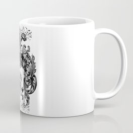 Poker King Spades black and white Coffee Mug