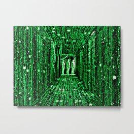 Free The Mind Neo Matrix Metal Print
