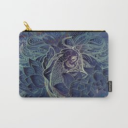 Purple Koi Fish Carry-All Pouch