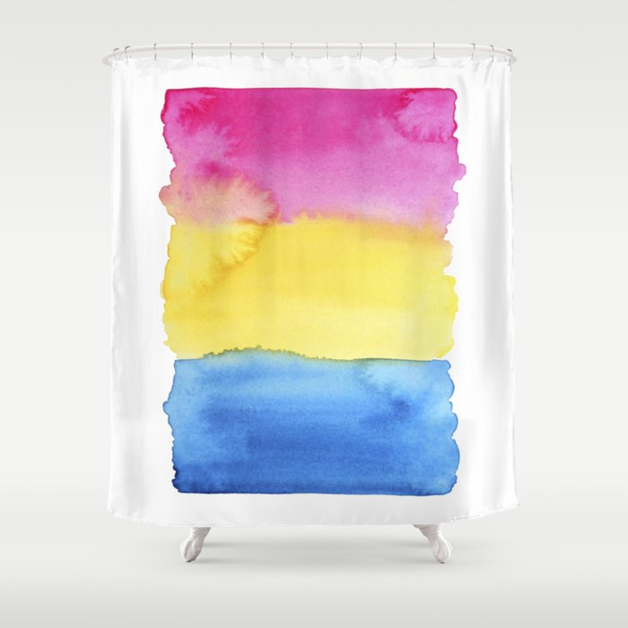 Pansexual Flag Shower Curtain