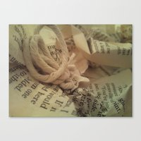literature Canvas Prints featuring Literature 1 by Genevieve Moye