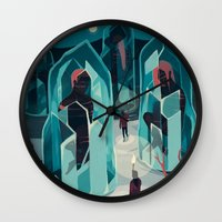 ice Wall Clocks featuring Ice age by Reno Nogaj