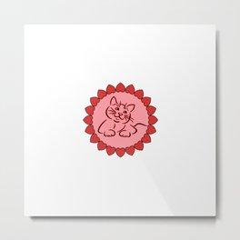 Cute kitten   cat gift Metal Print