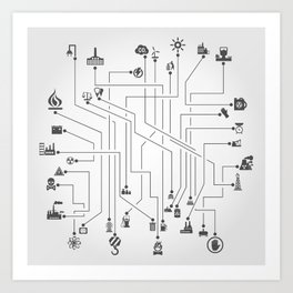 Industry the scheme Art Print