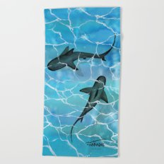 friendly waters Beach Towel