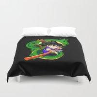 goku Duvet Covers featuring Little Goku by feimyconcepts05