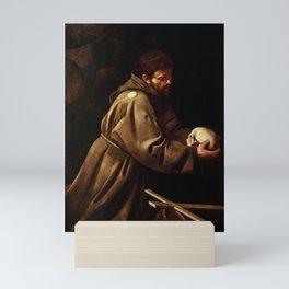 Michelangelo Merisi da Caravaggio - Saint Francis in Prayer Mini Art Print