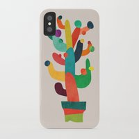 cactus iPhone & iPod Cases featuring Whimsical Cactus by Picomodi
