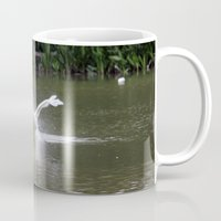 swan Mugs featuring Swan by Dreamweaver
