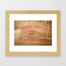 Three Jerks Jerky Framed Art Print