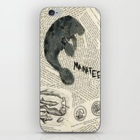 manatee iPhone & iPod Skins featuring Manatee by Cassidy Tebeau