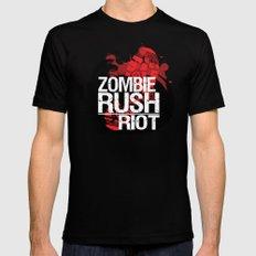 Zombie Rush: Riot Mens Fitted Tee MEDIUM Black