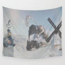 au-dessus des nuages-above the clouds Wall Tapestry