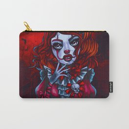 Creepy It Clown Girl (Painting) Carry-All Pouch