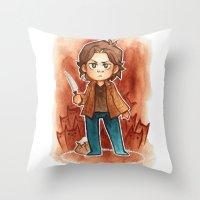 sam smith Throw Pillows featuring sam by noCek