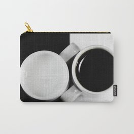 #Yin & #Yang, #coffee and #milk in #Cups #homedecors Carry-All Pouch