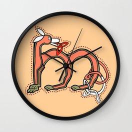 Celtic Fox Letter M v.2 Wall Clock