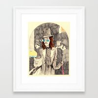 dracula Framed Art Prints featuring Dracula by withapencilinhand