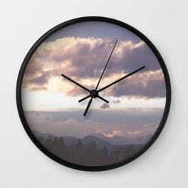 Rocky Mountain Lavendar Wall Clock