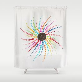 E Wheel Shower Curtain