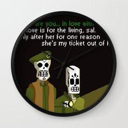 love? love is for the living Wall Clock