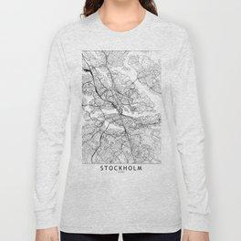 Stockholm White Map Long Sleeve T-shirt